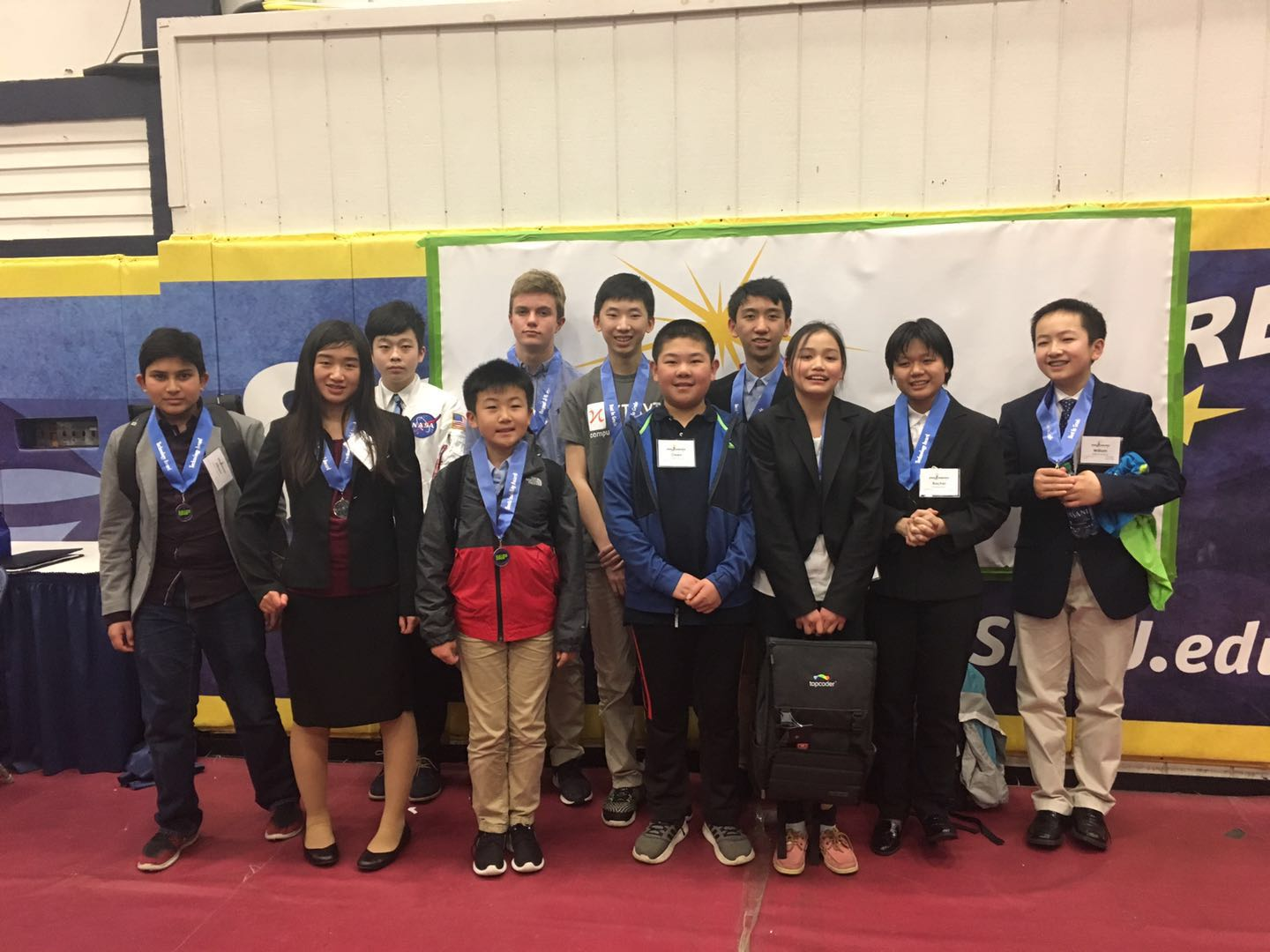 KTBYTE robotics club students at Regional Young Invention Convention in New Hampshire