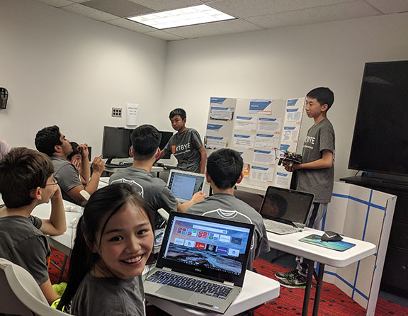 KTBYTE robotics club students presentation