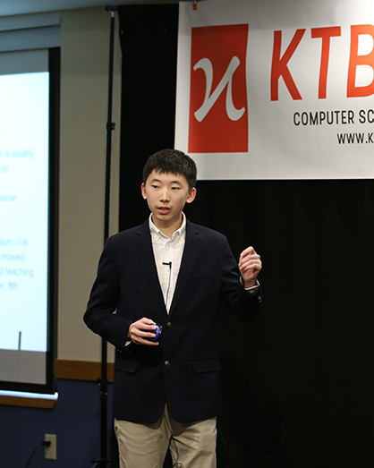 KTBYTE robotics club student Johnathan Lei wins award