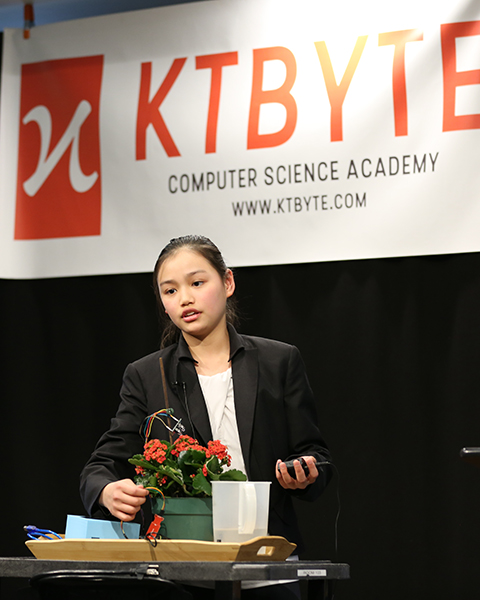 KTBYTE robotic club student Katerina Lung wins Topcoder disruptive technology and best design award first place