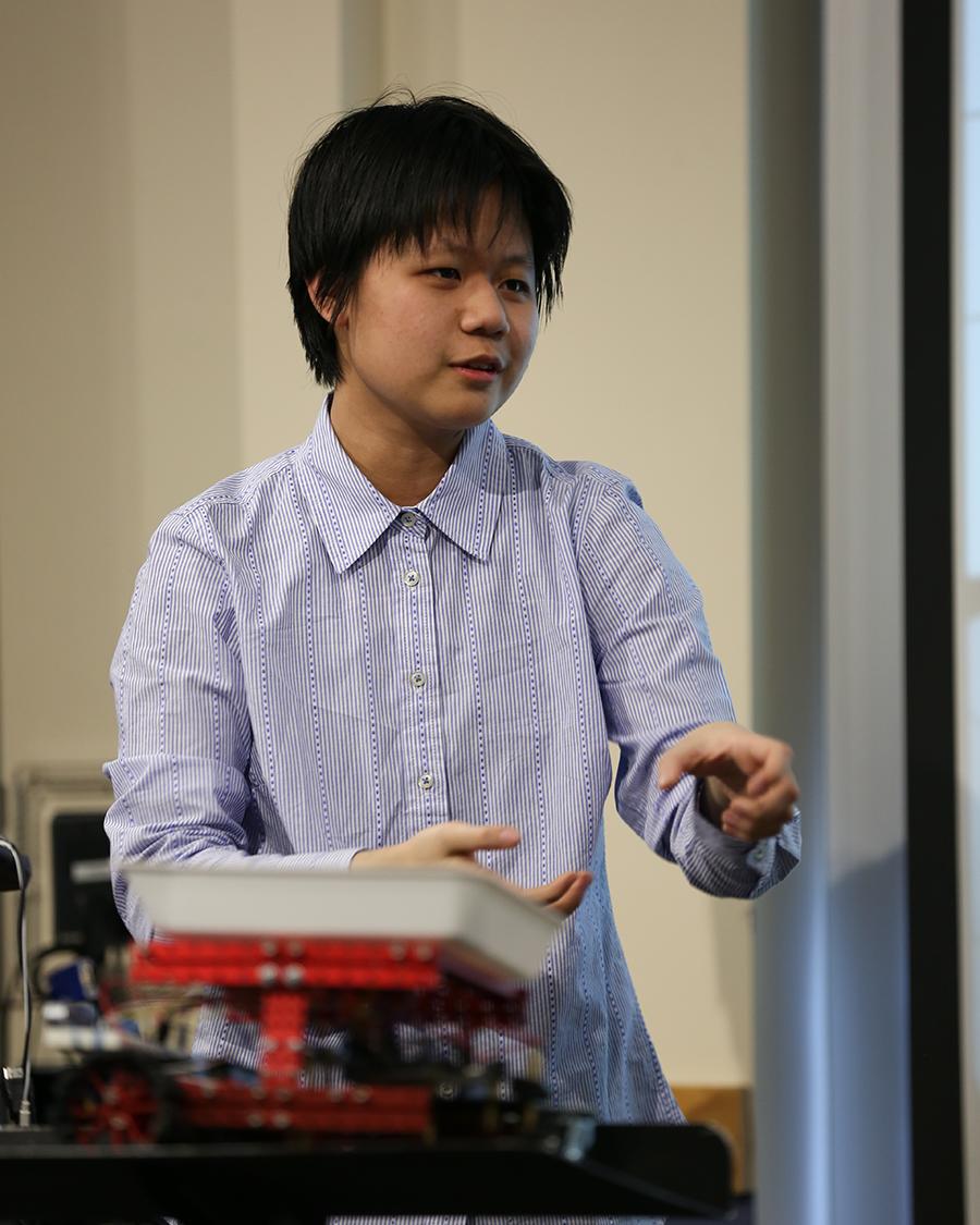 KTBYTE robotic club student Rachel Man wins Topcoder disruptive technology award second place